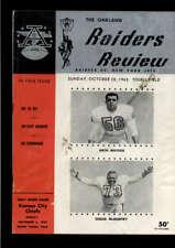 1963 OAKLAND RAIDERS VS NEW YORK JETS OFFICIAL PROGRAM LOT2141