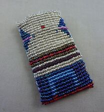 """Seed Bead Pouch, Horse Symbol, 2 ¾"""" x 1 ½"""""""