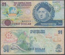 Bahamas - Columbus Commemorative, 1 Dollar, ND (1992), VF+, P-50(a)