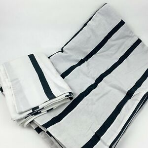 Ikea Tuvbracka Twin Duvet Cover & Pillowcase Set Black & White Striped