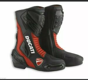 Ducati Motorcycle Boots Motorbike leather Shoes