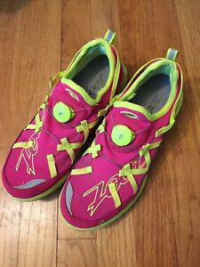 ZOOT pink/neon Ultra Race 4.0 Womens Size 9.5 US Quick Lace System Running Shoes
