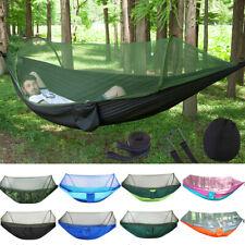 Двойной человек на открытом воздухе путешествий кемпинг палатка подвесной гамак кровать москитные сетки набор