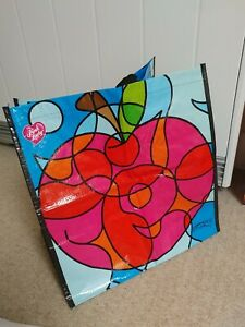 """Reusable limited edition PINK LADY Apple Shopping Bag Tote 14""""x14""""x9"""" foldable"""