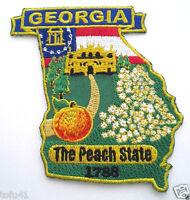 *** GEORGIA STATE MAP *** Biker Patch PM6711 EE