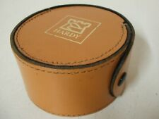Hardy Round Block Leather Fly Reel Case    **N.O.S**.