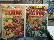 Korak Son of Tarzan #46 & 49 DC Bronze Age Comics Lot Edgar Rice Burroughs