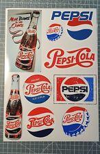 planche 9 stickers autocollant pepsi cola deco cuisine meuble frigo decal