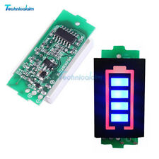 8.4V 2S Lithium Battery Capacity Indicator Module Blue Display Power Tester