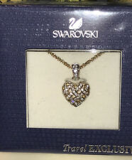Swarovski Woven Crystal Heart Pendant with Chain New in Sealed Box