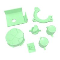 Game Gear Buttons Sega Replacement Light Green Keys Start A B DPad Power