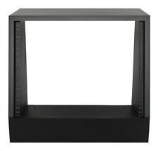 "Black 8u angled 19"" inch wooden rack unit/case/cabinet for studio/DJ/recording"