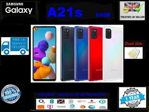 New Samsung Galaxy A21s Dual Sim 2020 4G LTE 32 64GB Smartphone BLACK BLUE WHITE