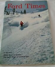 February 1964 Ford Times Magazine Back Issue Snowland Mardi Gras Peacock Model A