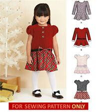 SEWING PATTERN! MAKE CHILD DRESS! 4 STYLES! 1/2 TO 4! CHRISTMAS~HOLIDAY~PARTY