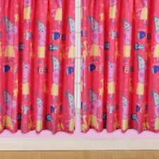 "Kids Official Pink Peppa Pig Funfair - 66"" Wide  x 54"" Drop Curtains"