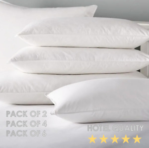 Luxury Goose Feather & Down Pillows Hotel Quality Firm Support Extra Filling