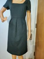 L.K BENNETT FITTED DRESS DRESS SIZE UK 10 US 6 GREY 100% WOOL