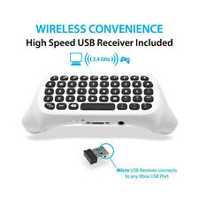 White Mini Wireless Game Keyboard for Xbox One Controller with 2.4G USB Receiver
