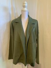 Time and Tru Women's Size XL or XXL Green Soft Open Front Short Jacket NWT