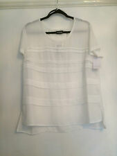 TAIFUN WHITE SHORT SLEEVE BLOUSE SIZE 18 BRAND NEW WITH TAGS