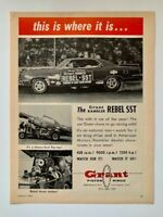 Grant Rambler Rebel SST 1967 Grant Piston Rings Print Ad