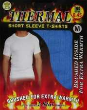 Mens good quality short sleeved thermal vest underwear in five sizes