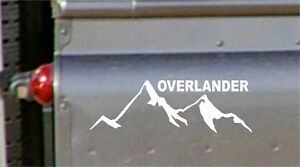 overlander decal Funny lAND  Car Window Bumper Graphic Vinyl Decal Sticke lr