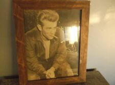 "james dean framed photograph, 13 1/2"" by 16 3/4"", collectors"