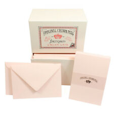 Crown Mill Luxury Box C6 Set of 50 Cards and Envelopes - Pink (Pack of 4)