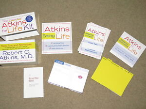 GREAT The Essential Atkins for Life Kit - Tools, Tips, and Techniques (w/ cd)