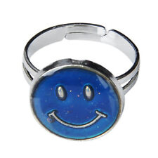 Ring of mood change of color size adjustable shape of face of smile YM