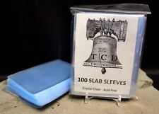 100 Coin Slab Resealable Sleeves NGC PCGS Everslab Protective Sleeve TCD Slabs