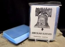 100 Coin Slab Sleeves NGC PCGS Everslab Protective Sleeve TCD Handling Slabs
