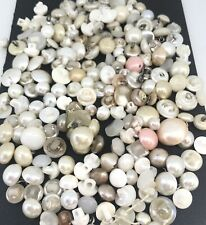 Vintage Pearl Buttons For Collecting Crafts Sewing Doll Making Jewelry 200+