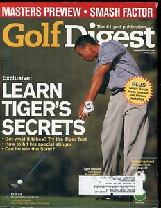 April 2000 Golf Magazine Tiger Woods on Cover 272 Pages