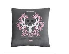 Bone Collector Grey Pink Square Pillow Throw Pillow Skull Girls Logo