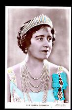 vintage tinted Wilding real Photo HM Queen Mother Elizabeth royalty UK postcard