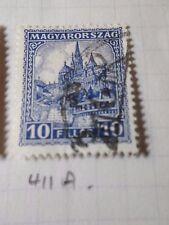 HONGRIE 1928, timbre CLASSIQUE 411A, CATHEDRALE, oblitéré, VF CANCEL STAMP