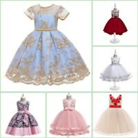 Flower Kid Baby Princess Tutu Bridesmaid Dresses Party Dress Formal Girl Wedding