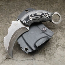 SCORPION BEAR CLAW AUS-8 Outdoor Camping Fixed Blade Karambit Knife + K Sheath