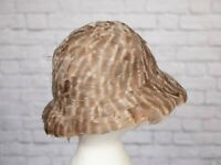 VINTAGE Albrizio New York Feather Hat Cloche 1920s 1970s 80s Edwardian Goodwood