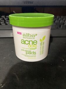 Alba Botanica Acne Dote Anti-Pimple Pads 60ct Exp 11/2021! New, Sealed!