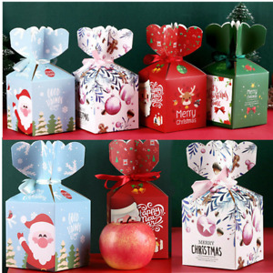 10X Christmas Gift Boxes Creative Candy Box Xmas Wedding Party Favour Gifts Box