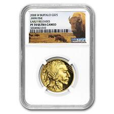 2008-W 1/2 oz Proof Gold Buffalo PF-70 NGC (ER, Buffalo Label)