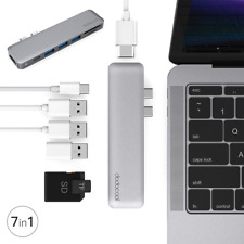 7in1 USB-C Hub Type-C Multiport SD/TF Card Reader Adapter 4K HDM For MacBook Pro