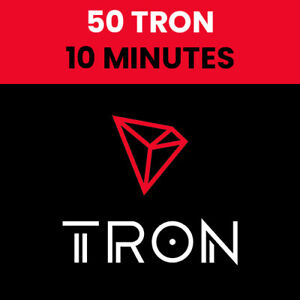 FAST - 50 Tron Coins (TRX) Crypto Mining Contract - 10 MINUTES