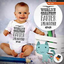 Funny world s greatest farter father s day gift birthday present babygrow