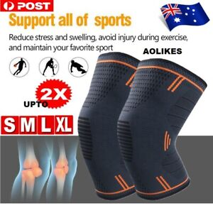 2X Arthritis Knee Sleeve Compression Brace Support For Sport Joint Pain Relief
