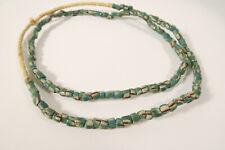 Alte Glasperlen Krobo türkis DE85 Old Krobo trade beads turquoise Ghana Afrozip